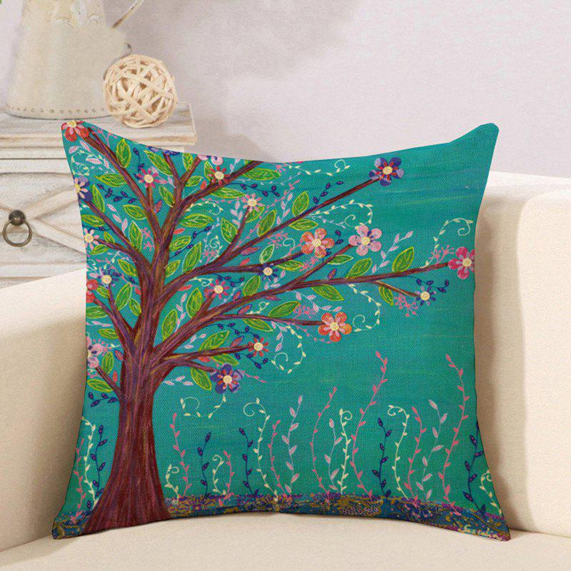 Latest Cotton and Linen Pillowcase Linseed Oil Painting Tree Pillow Nap Office