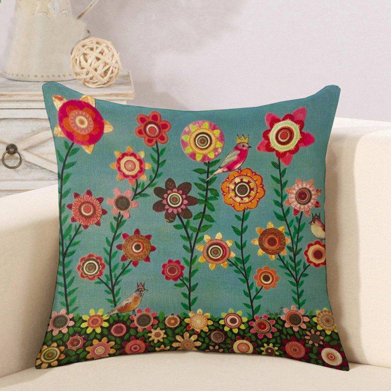 Hot Cotton and Linen Pillowcase Linseed Oil Painting Tree Pillow Nap Office