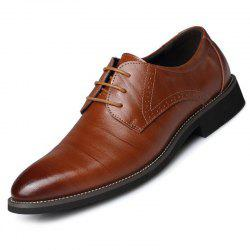 Men's British Pointed Tie Business Casual Retro Shoes -