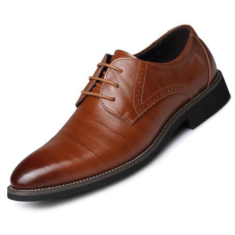 Outfits Men's British Pointed Tie Business Casual Retro Shoes