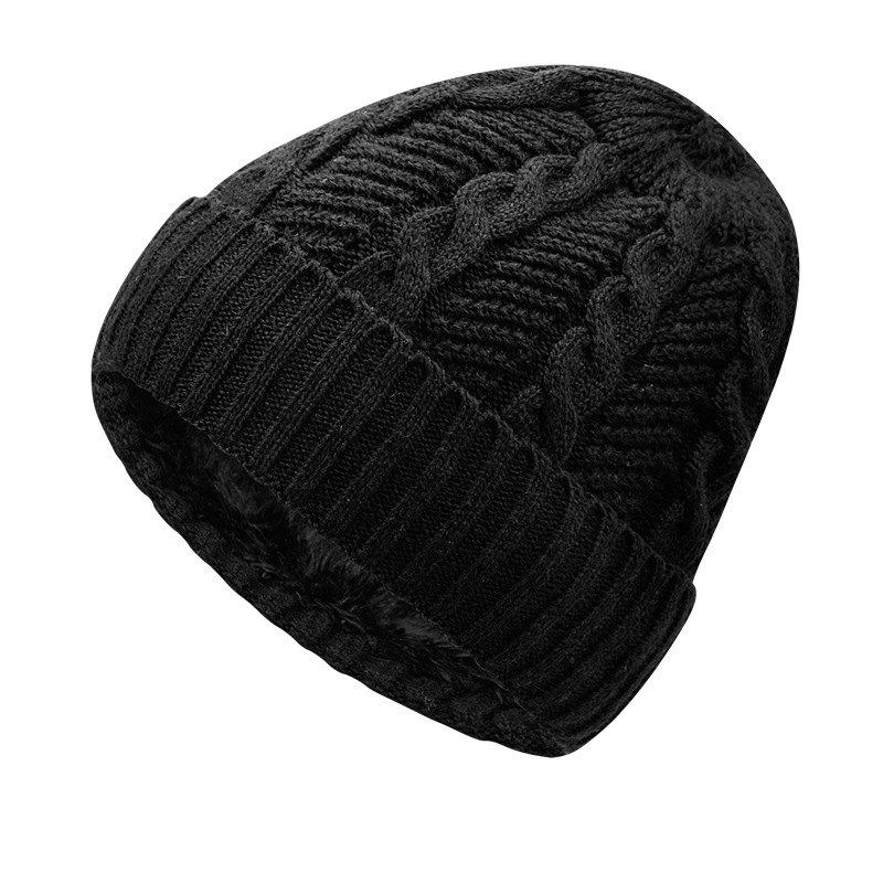 Outfit Warm Cap and Plush Wool Cap + Size Code for 56-60CM Head Circumference