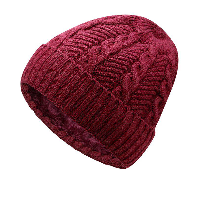 Cheap Warm Cap and Plush Wool Cap + Size Code for 56-60CM Head Circumference