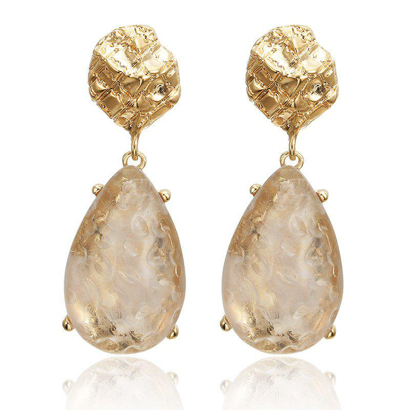 Fashion Transparent Drop-Shaped Alloy Inlaid Long Earrings