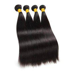 Raw Indian Hair Straight Human Hair 4 Buneles Remy Hair Extensions -