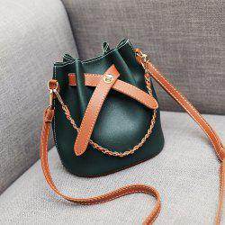 New Fashion Chain Color Bucket Bag Shoulder Messenger Bag Women'S Bag -