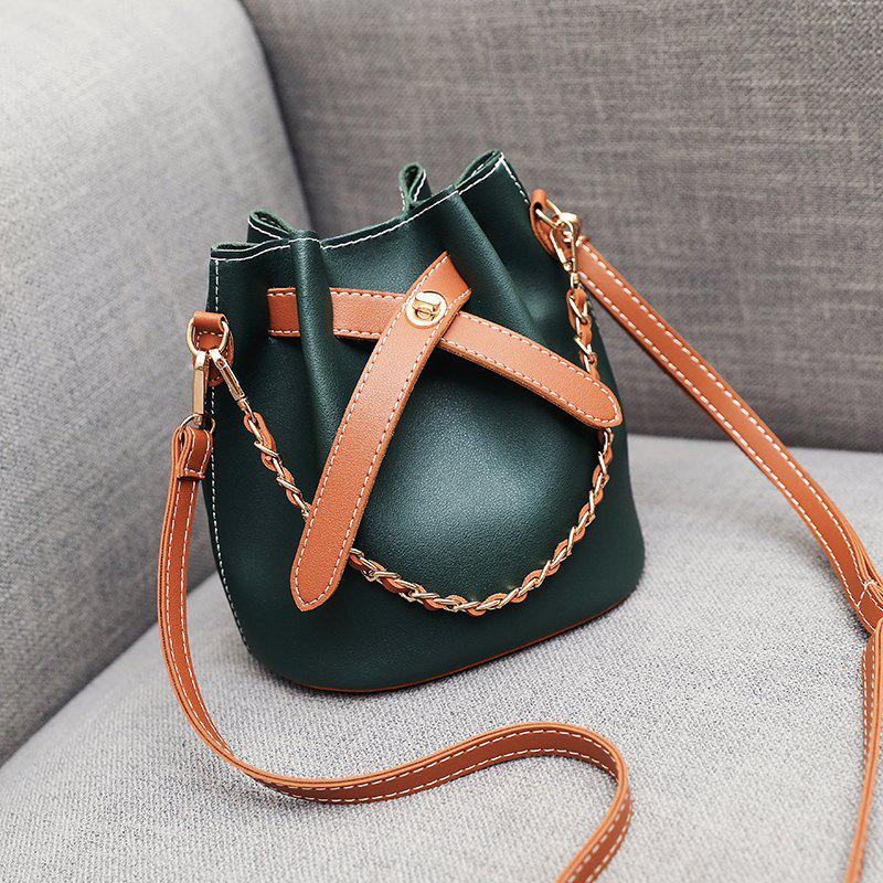 Cheap New Fashion Chain Color Bucket Bag Shoulder Messenger Bag Women'S Bag