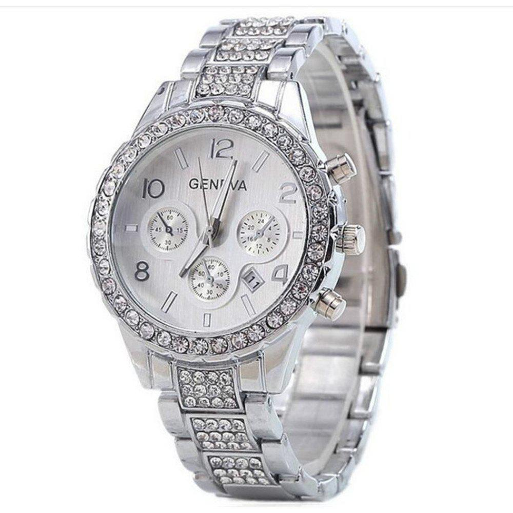 Shop GENEVA Women Fashion Trend Diamond Alloy Set Diamond Watch