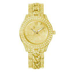GENEVA Women Trend Diamond Encrusted Alloy Quartz Watch -