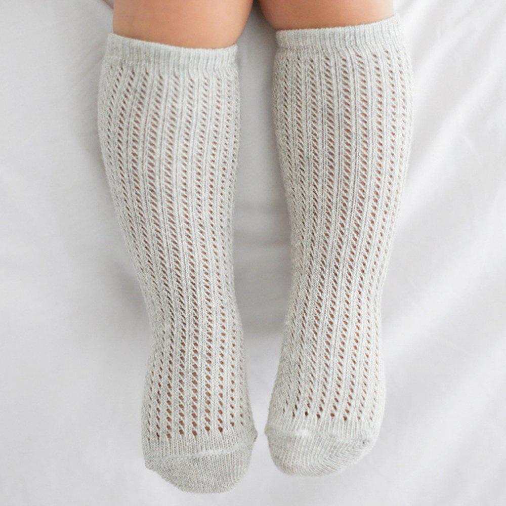 Store 1 Pair of Baby Hollow Mesh Cotton Tube Socks