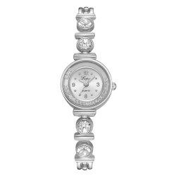 Diamond Ball Bearing Quartz Diamond-Encrusted Bracelet Watch -