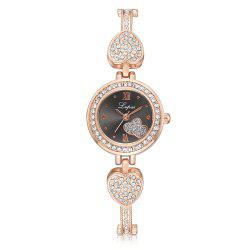 Contracted Temperament Drill Steel Appliance with Metal Chain Chain Love Watches -