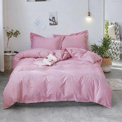 40S Full Cotton Pure Stripe Bedding Set 4 PCS -
