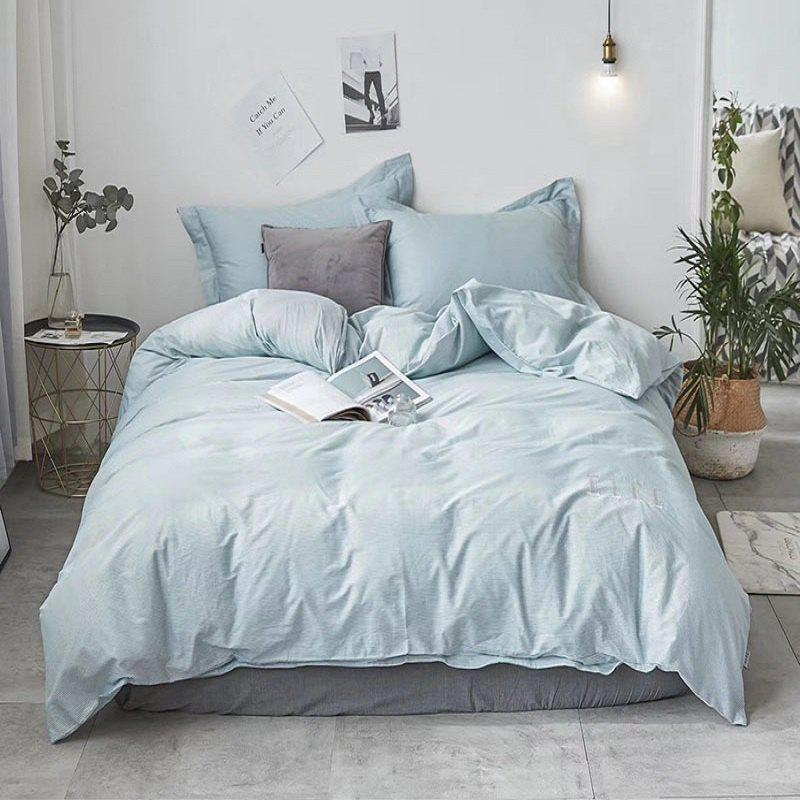 Sale 40S Full Cotton Pure Stripe Bedding Set 4 PCS
