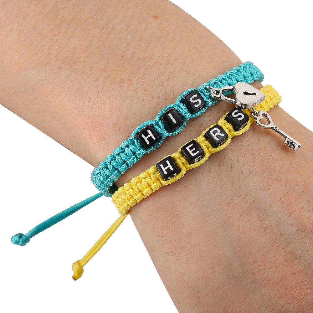 Outfit Fashion Creative Hand-Woven Letters Lovers Bracelets