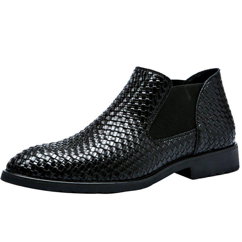 Hot Hand-knitted Men's Leather Boots