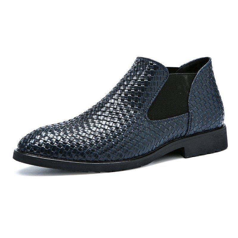 Discount Hand-knitted Men's Leather Boots
