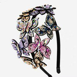Fashion Exaggerated with Drill Hoop Banquet Headdress Hairpin -