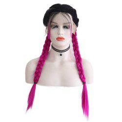 New Wig Fashion Middle Score Long Straight Hair Multicolor Optional Braided Wig -