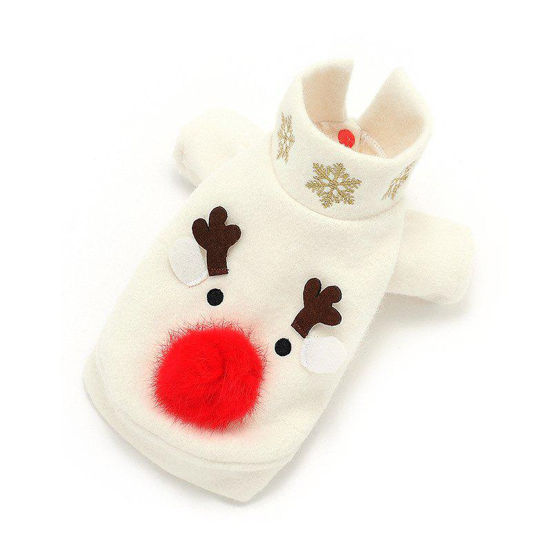 Shop Pet Christmas Clothes Autumn and Winter Cotton Elk Snowman Embroidery Dog Clothe