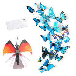 Wall Decoration Living Room Bedroom 3D Butterfly Stereo Wall Sticker -