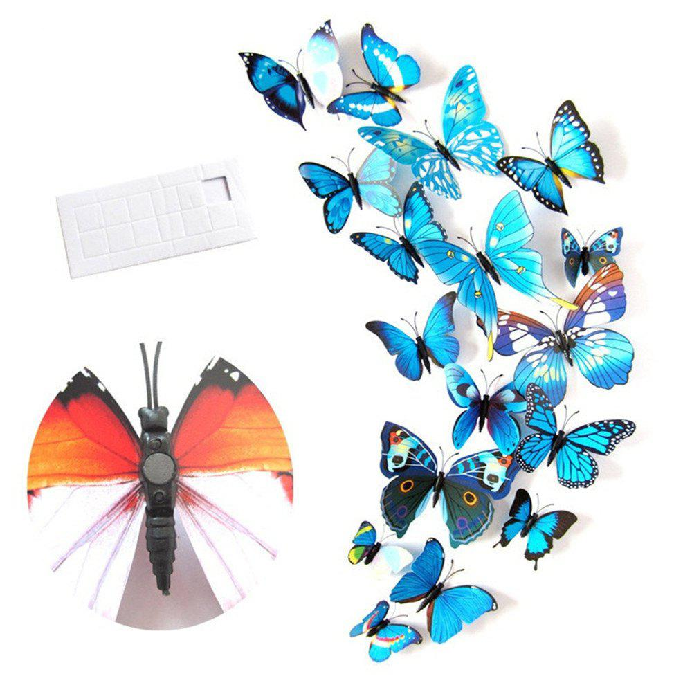 Shop Wall Decoration Living Room Bedroom 3D Butterfly Stereo Wall Sticker
