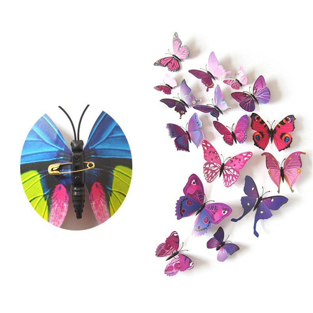 Latest Wall Decoration Living Room Bedroom 3D Butterfly Stereo Wall Sticker