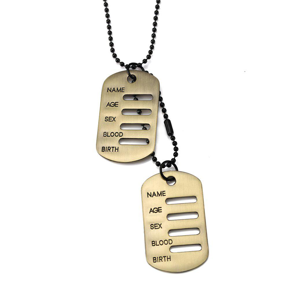 Outfits NYUK New Personality Hollow Design Military Dog Necklace Pendant Jewelry