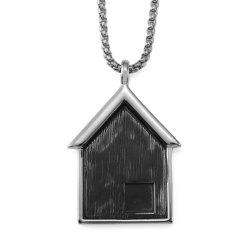 NYUK New Stainless Steel Pendant Necklace for Small House -