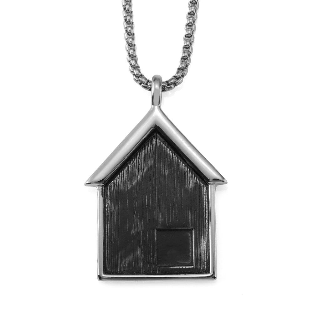 Hot NYUK New Stainless Steel Pendant Necklace for Small House