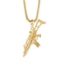 NYUK New Personality Machine Gun Pendant Necklace Accessories -