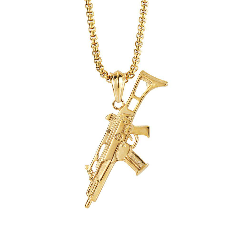 Shops NYUK New Personality Machine Gun Pendant Necklace Accessories