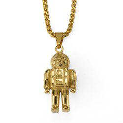NYUK New Astronaut Pendant Necklace with Premium Unbleached Steel Trim -