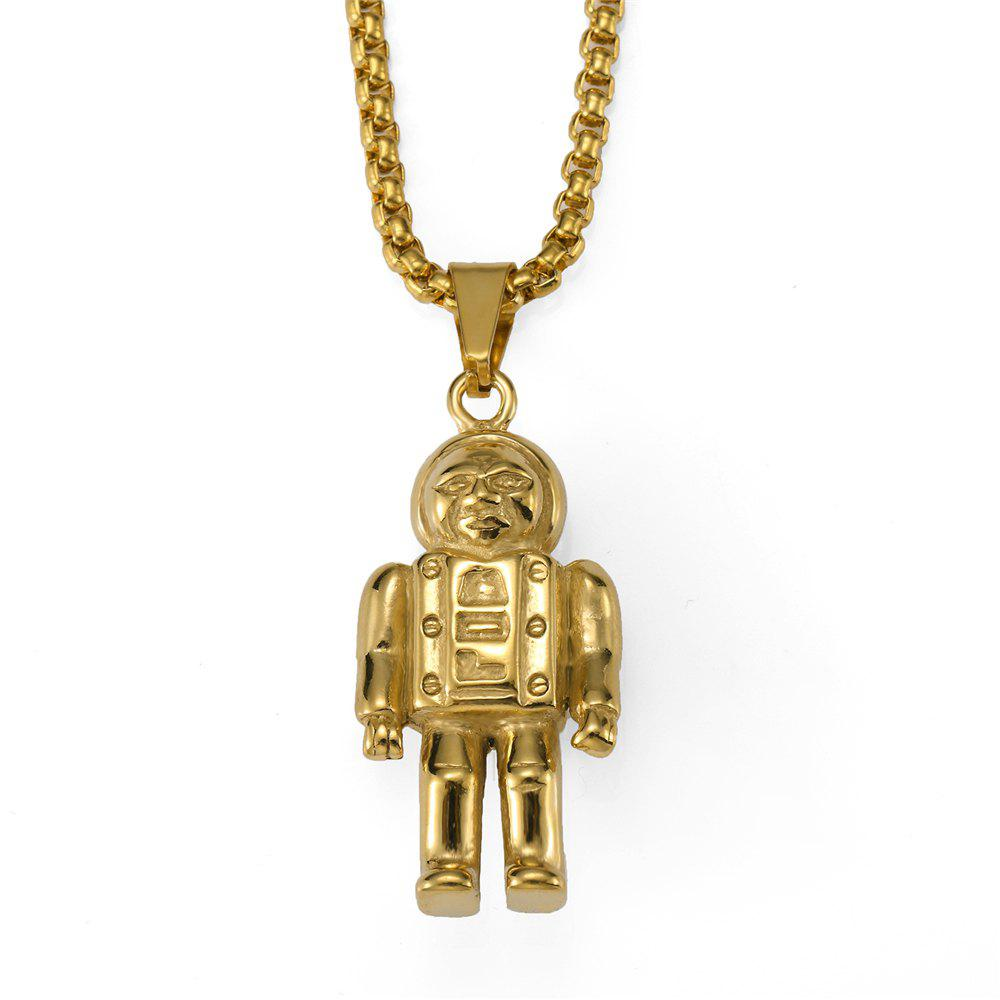 Outfit NYUK New Astronaut Pendant Necklace with Premium Unbleached Steel Trim