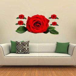 3D Wall Sticker Creative Valentine's Day Roses -