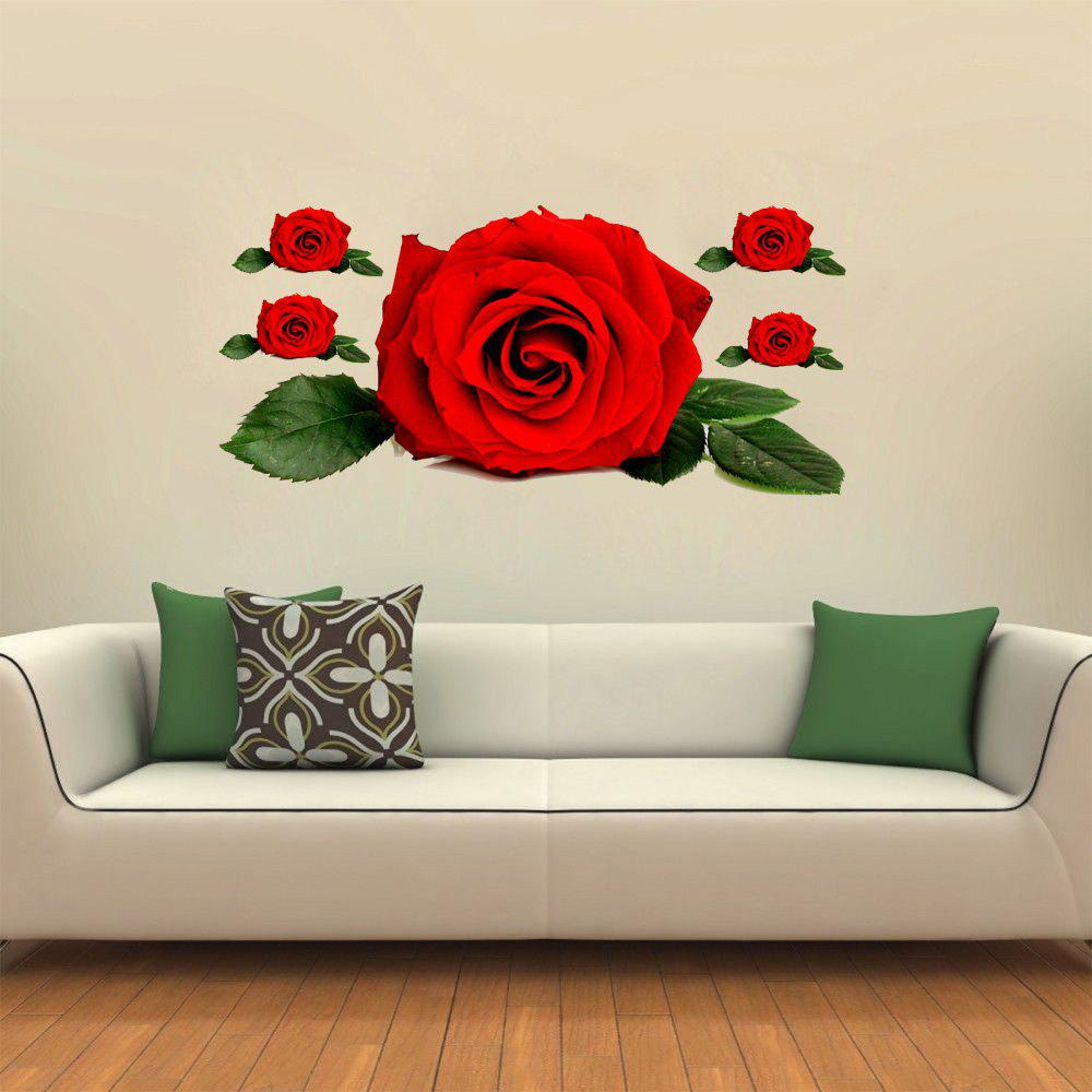 New 3D Wall Sticker Creative Valentine's Day Roses