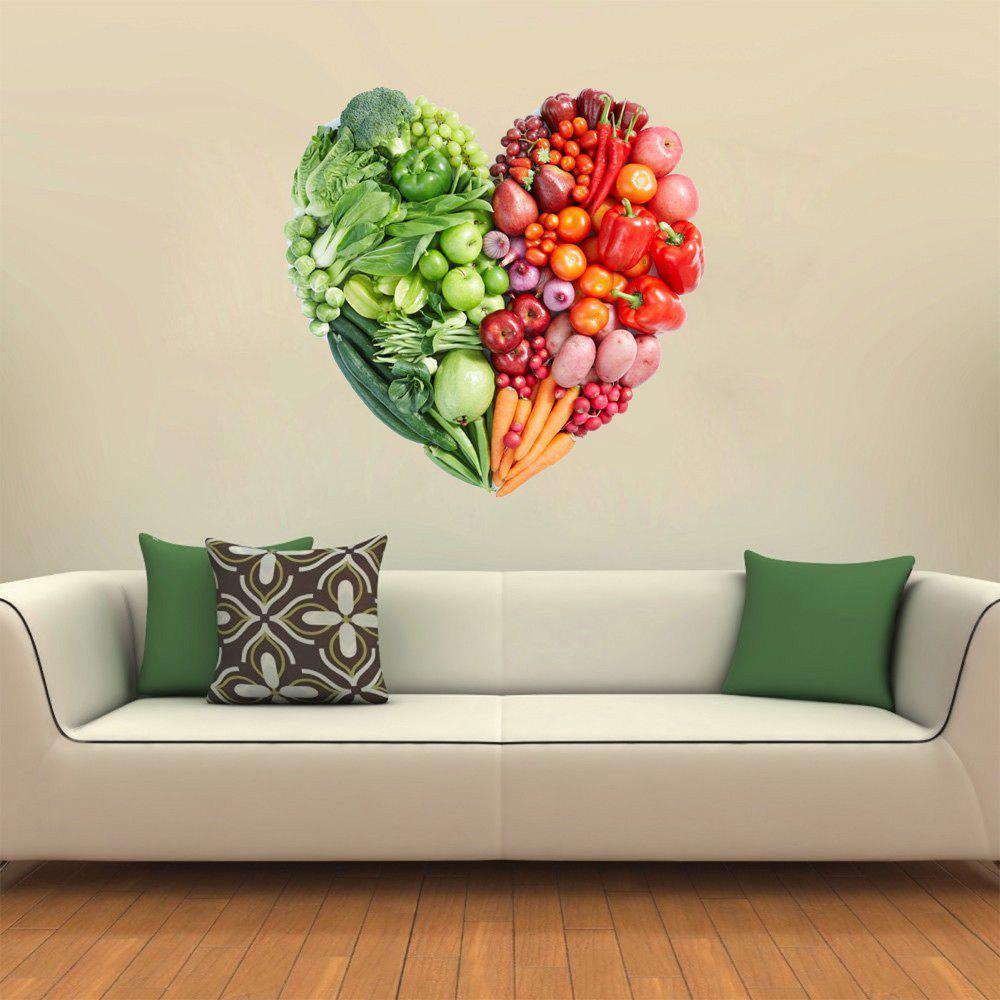Chic 3D Wall Sticker Creative Valentine's Day Vegetable Fruit Heart