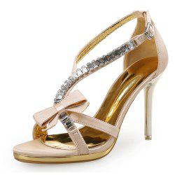 Sexy High Heels Open Toe Fashion Bow Women'S Sandals -