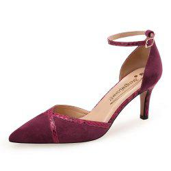Small Fresh High Heel Pointed Hollow Single Shoes -