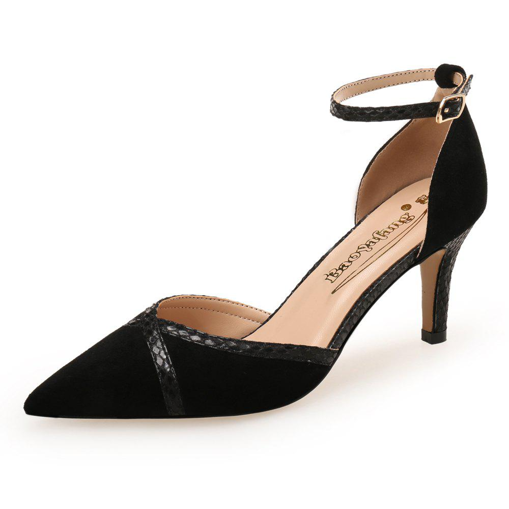 Buy Small Fresh High Heel Pointed Hollow Single Shoes