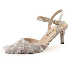 Pointed Hollow Sexy Princess Shoes High Heels -