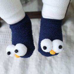 1 Pair of Cartoon Big Eyes Baby Non-Slip Floor Socks -