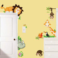 Cartoon Cute Animals Stickers muraux décoratifs -