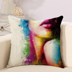 Painted Art Beauty Body Hug Pillowcase Car Cushion Cover -