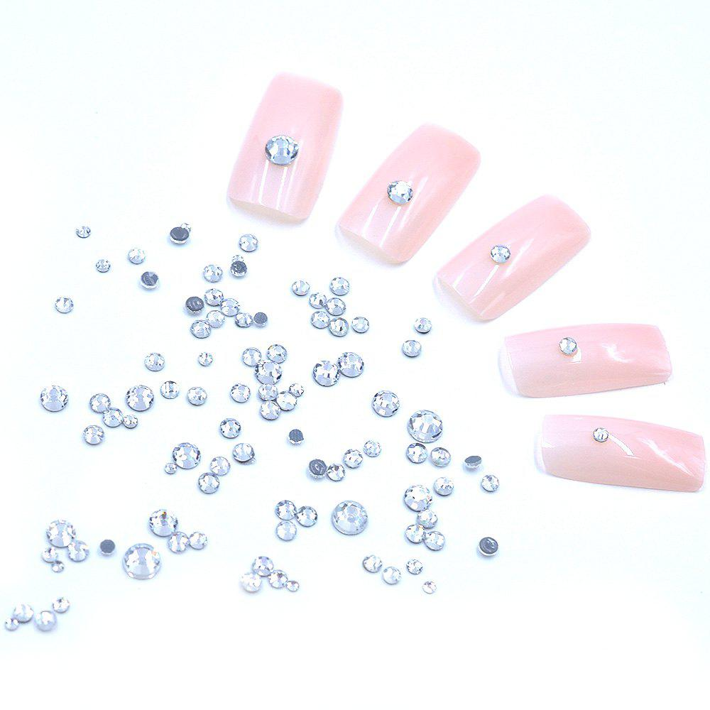 Best 1 Box AB 27 Color Round Flatback Crystal Charm Gems Mix Size SS4-30 Nail Decors