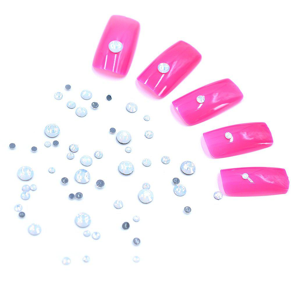 Cheap 1 Box AB 27 Color Round Flatback Crystal Charm Gems Mix Size SS4-30 Nail Decors