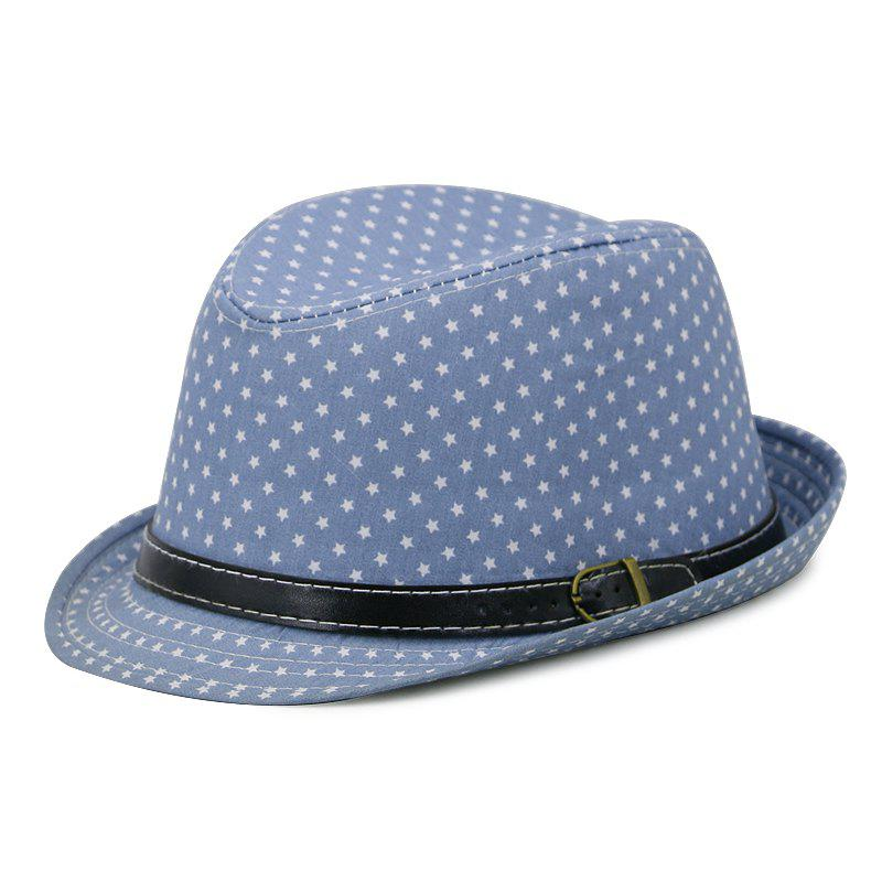 Outfits Star Print Hat Jazz Cap + Free Size for 56-58CM