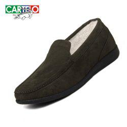CARTELO Men's Sport Loafers With Soft Soles And Fleece -