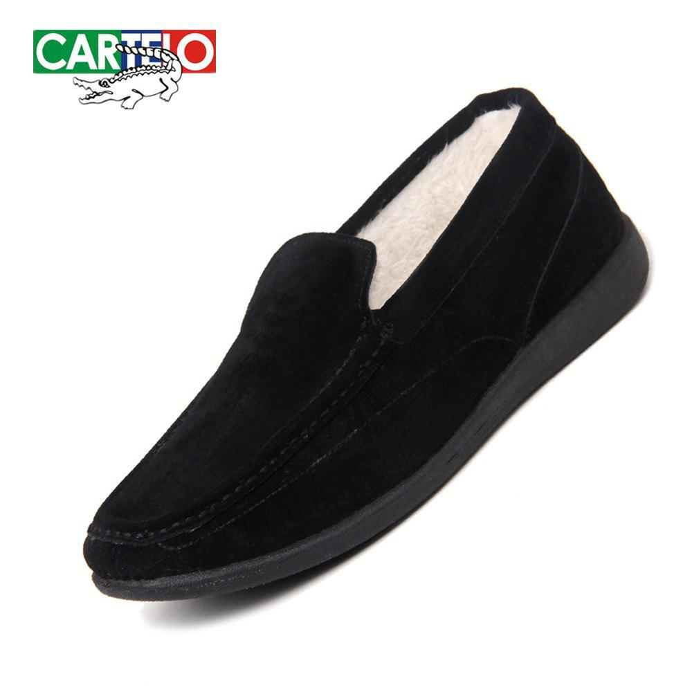 New CARTELO Men's Sport Loafers With Soft Soles And Fleece