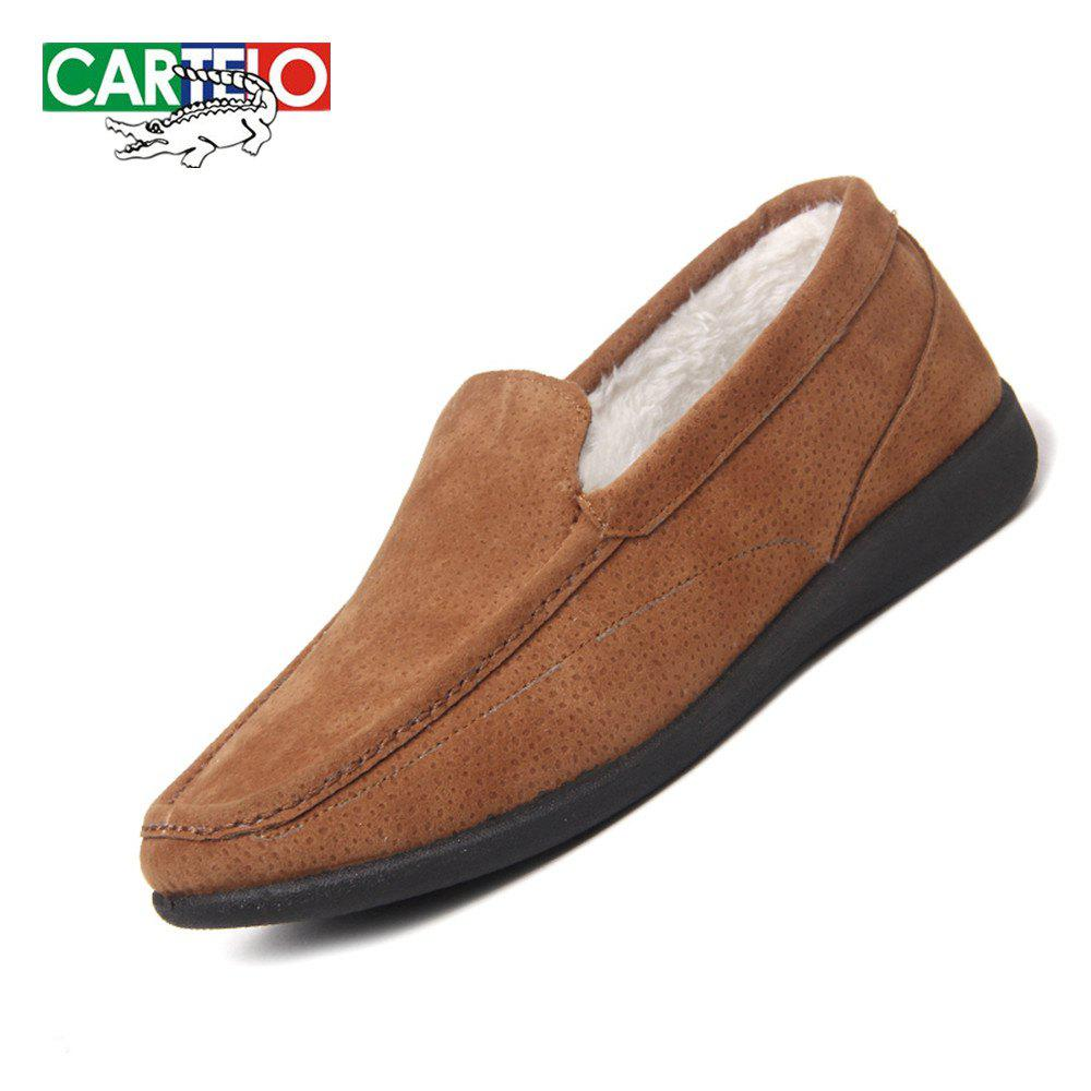 Sale CARTELO Men's Sport Loafers With Soft Soles And Fleece