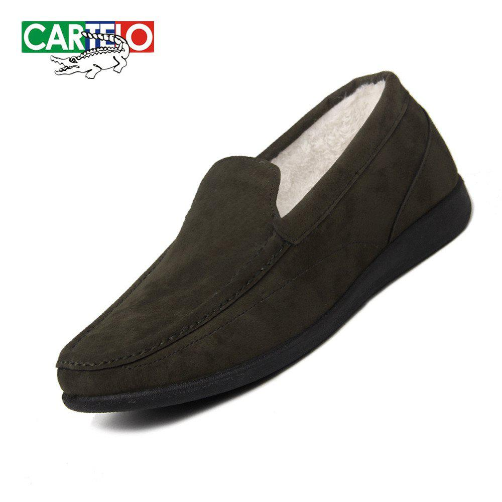 Shops CARTELO Men's Sport Loafers With Soft Soles And Fleece